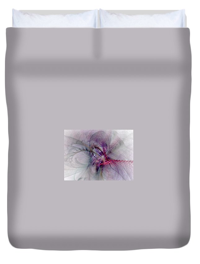 Spiritual Duvet Cover featuring the digital art Nobility Of Spirit - Fractal Art by NirvanaBlues