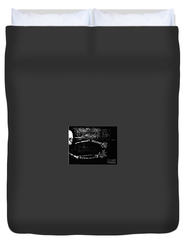 Duvet Cover featuring the digital art Nocturnal Caress by Dell Justice