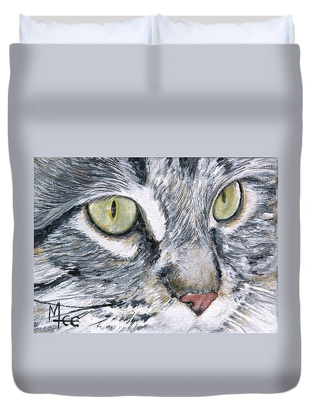 Charity Duvet Cover featuring the painting Noel by Mary-Lee Sanders