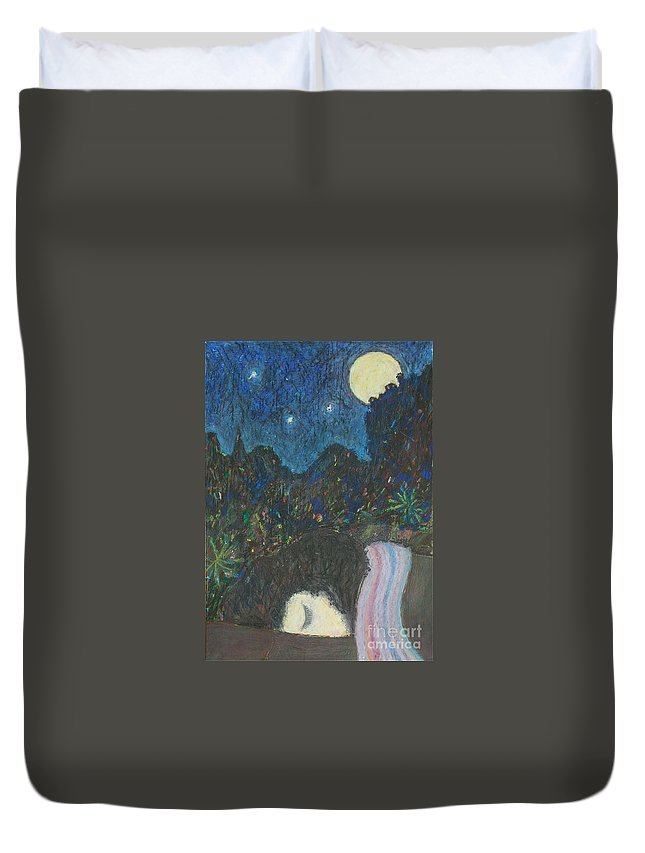 Sleep Duvet Cover featuring the painting Norah Sleeping by Andy Mercer