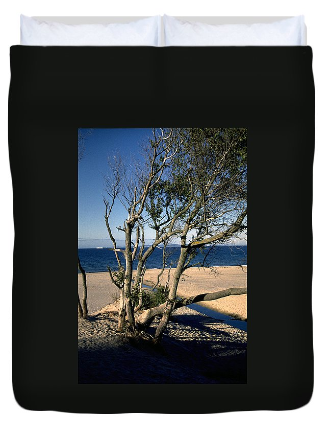 Denmark Duvet Cover featuring the photograph Nordic Beach by Flavia Westerwelle