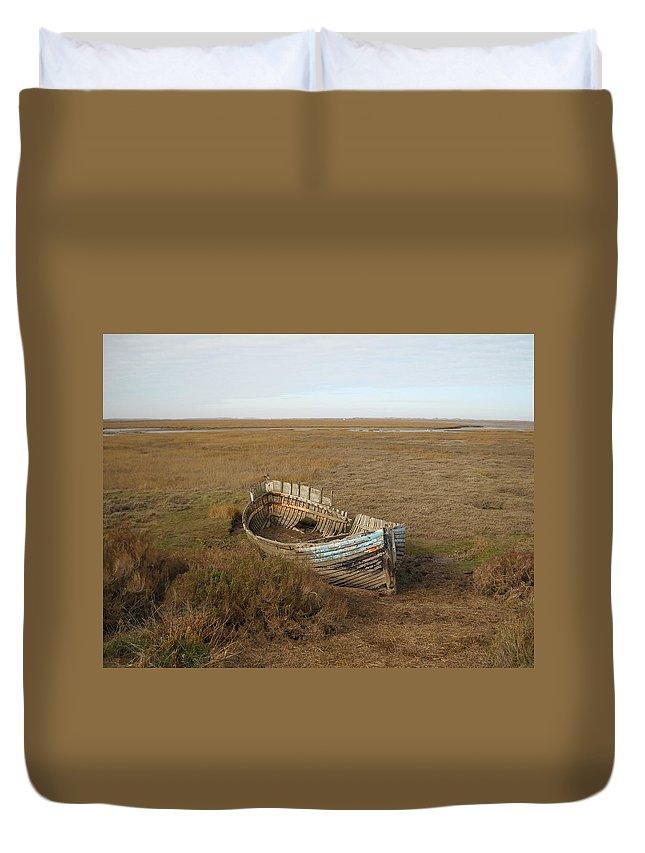 United Kingdom Duvet Cover featuring the photograph Norfolk Coast by Julia Raddatz