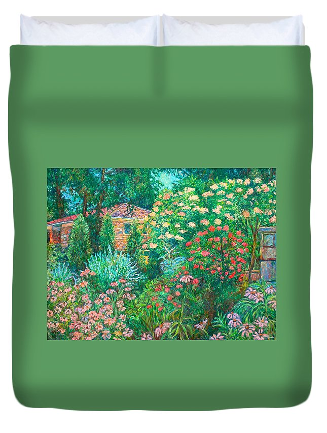 Garden Duvet Cover featuring the painting North Albemarle In Mclean Va by Kendall Kessler
