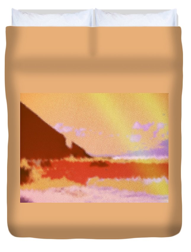 Abstract Duvet Cover featuring the digital art North Friars Bay Diffused by Ian MacDonald