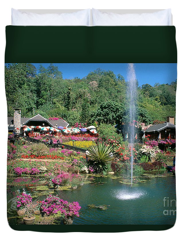 A74d Duvet Cover featuring the photograph North Of Chiang Mai by William Waterfall - Printscapes