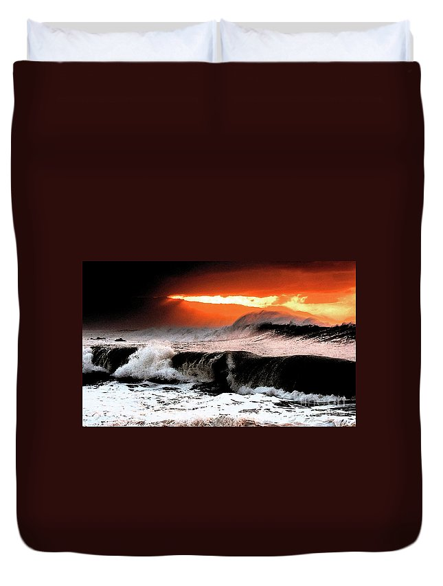 North Shore Duvet Cover featuring the digital art North Shore by Tommy Anderson