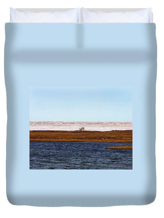 Arctic Duvet Cover featuring the photograph North Slope by Anthony Jones