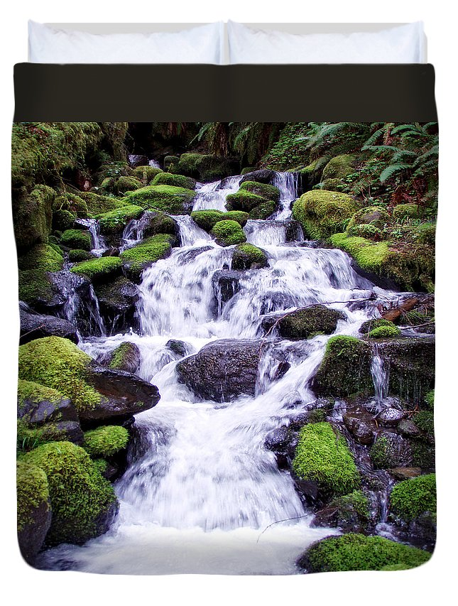 Columbia Gorge Duvet Cover featuring the photograph North Umpqua Wild And Scenic River by Ingrid Smith-Johnsen