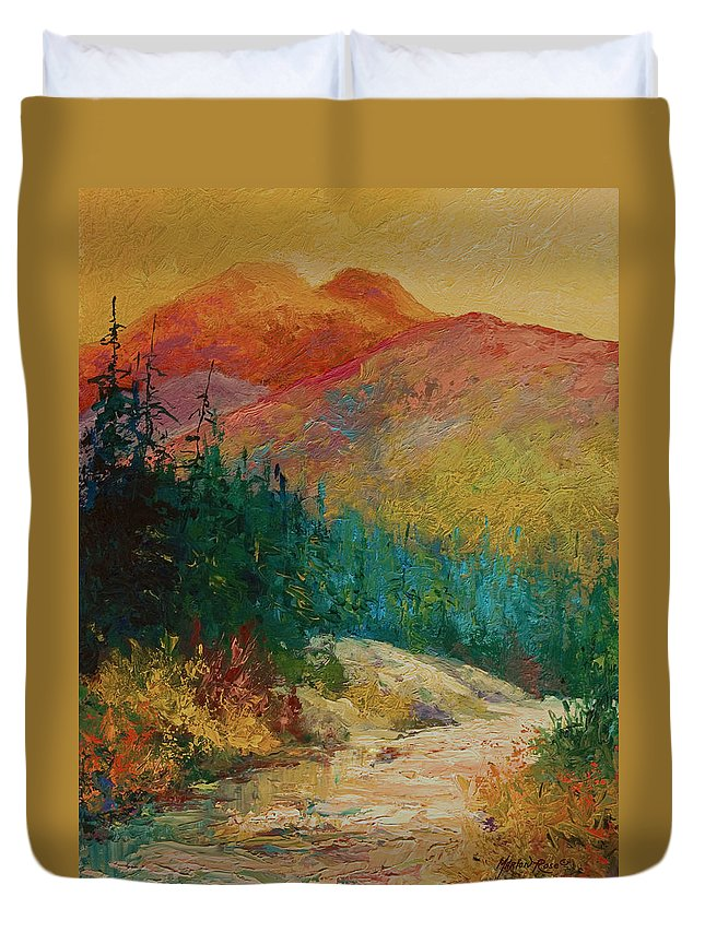 Alaska Duvet Cover featuring the painting Northern Essence by Marion Rose