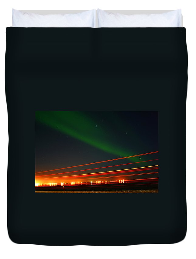 Northern Lights Duvet Cover featuring the photograph Northern Lights by Anthony Jones