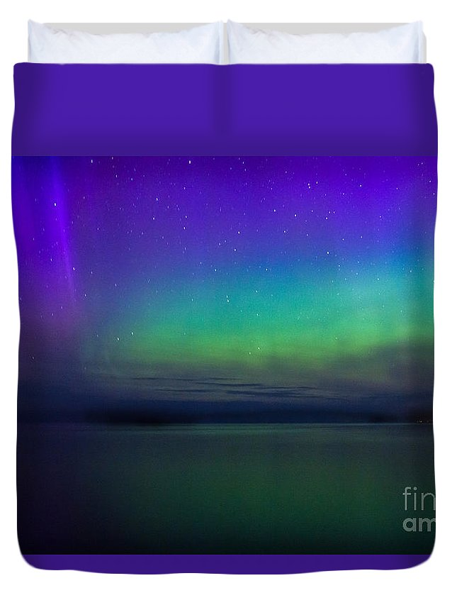 Northern Lights Duvet Cover featuring the photograph Northern Lights by CJ Benson