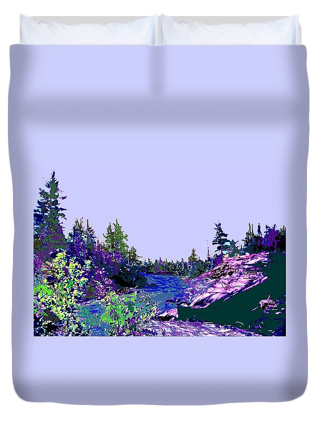 Norlthern Duvet Cover featuring the photograph Northern Ontario River by Ian MacDonald