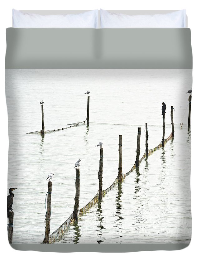 Old Duvet Cover featuring the photograph Northern Sea Landscape by Dvoevnore Photo