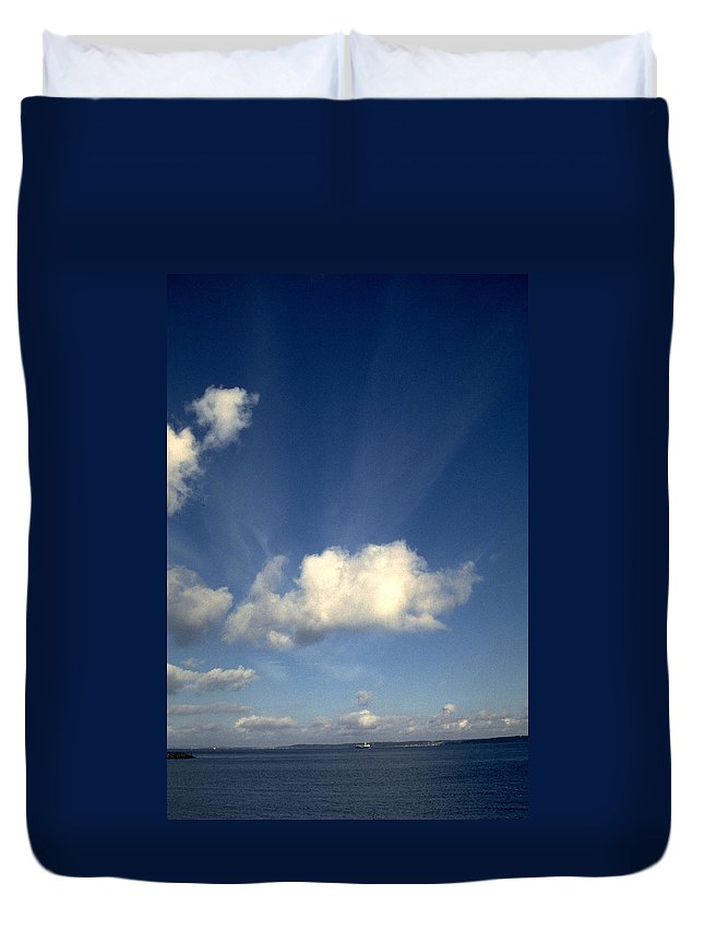 Northern Sky Duvet Cover featuring the photograph Northern Sky by Flavia Westerwelle
