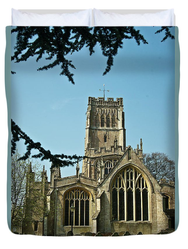 Duvet Cover featuring the photograph Northleach St Peter St Paul 2 by Douglas Barnett