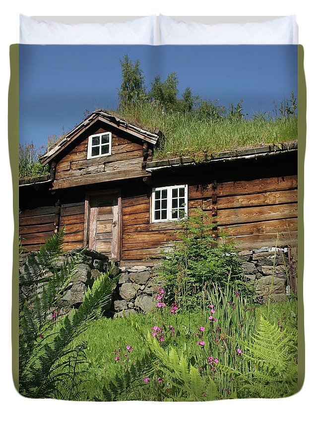 Norway Duvet Cover featuring the photograph Norwegian Wood by PJ Boylan