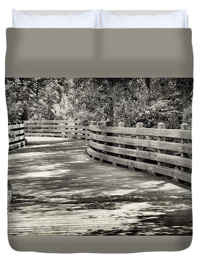 Pathway Duvet Cover featuring the photograph Nostalgic Pathway by Paul Schreiber