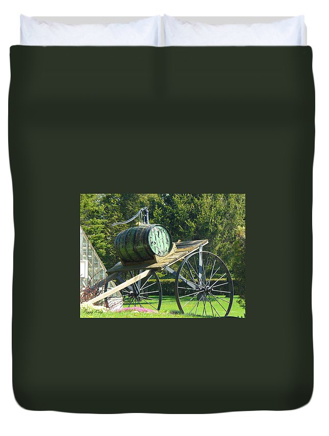 Duvet Cover featuring the photograph Nostalgic by Peggy King
