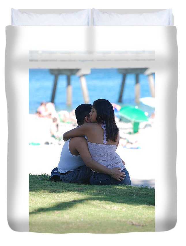 People Duvet Cover featuring the photograph Not Married by Rob Hans