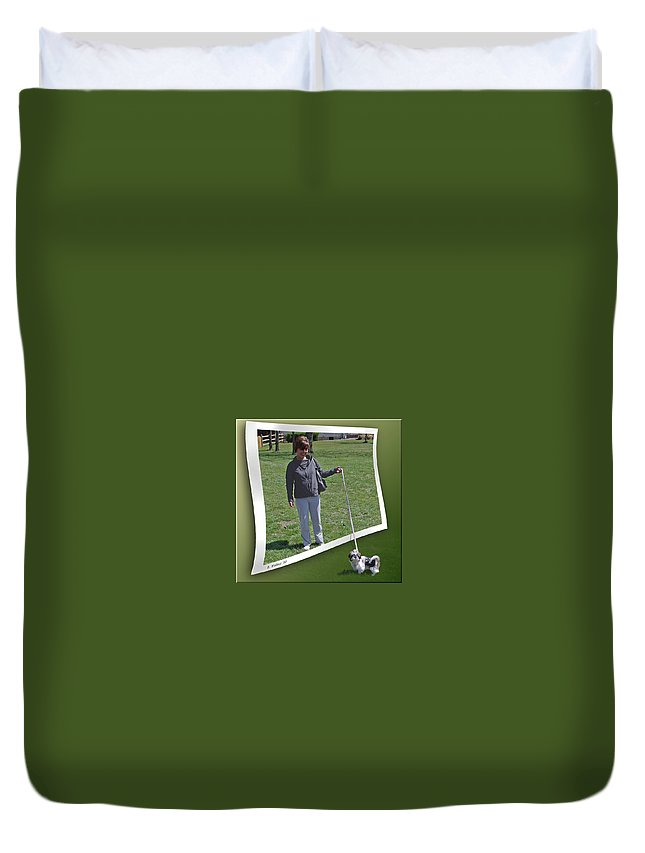 2d Duvet Cover featuring the photograph Not While You Watch by Brian Wallace