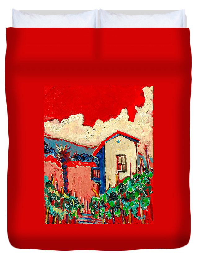 Tuscany Duvet Cover featuring the painting Notare by Kurt Hausmann