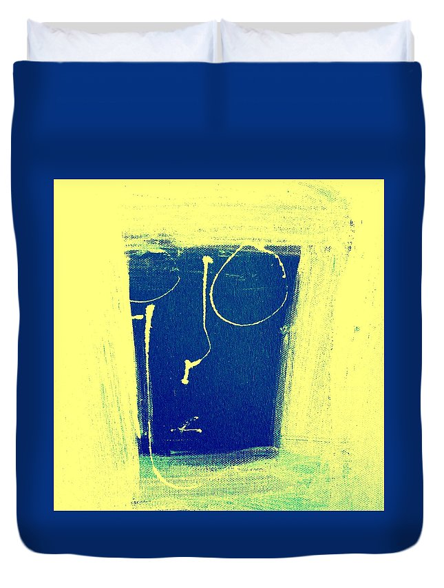 Abstract Figurative Duvet Cover featuring the mixed media Nothing Seen by Dave Love