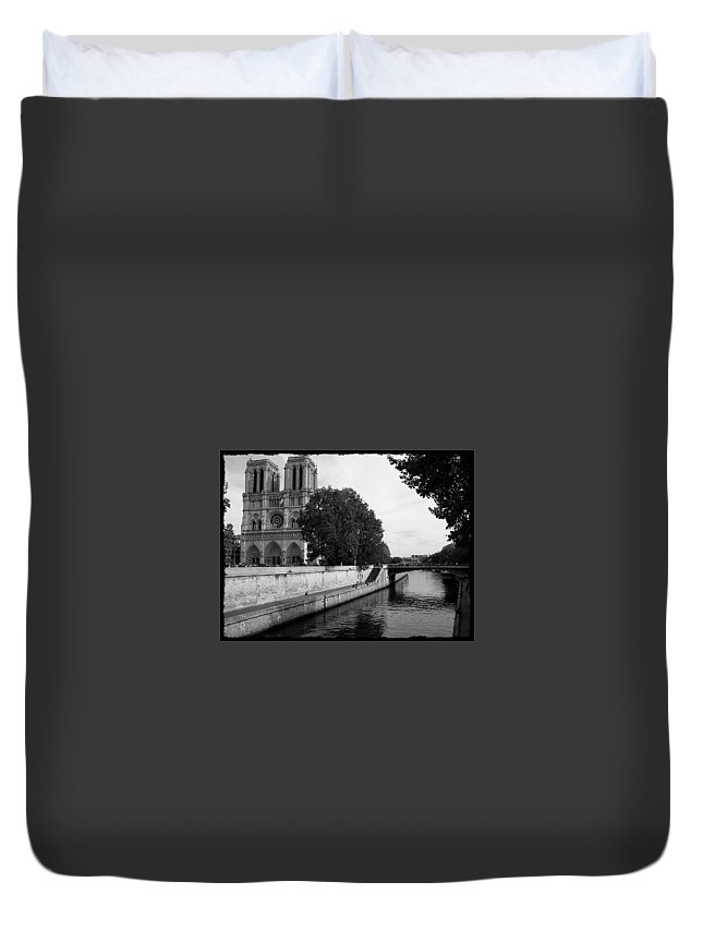 Notre Dame Duvet Cover featuring the photograph Notre Dame by Michelle Kenneth