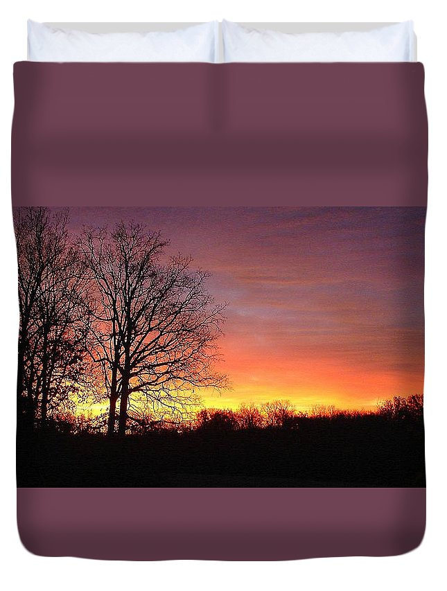 Duvet Cover featuring the photograph Nov. Sunrise by Luciana Seymour