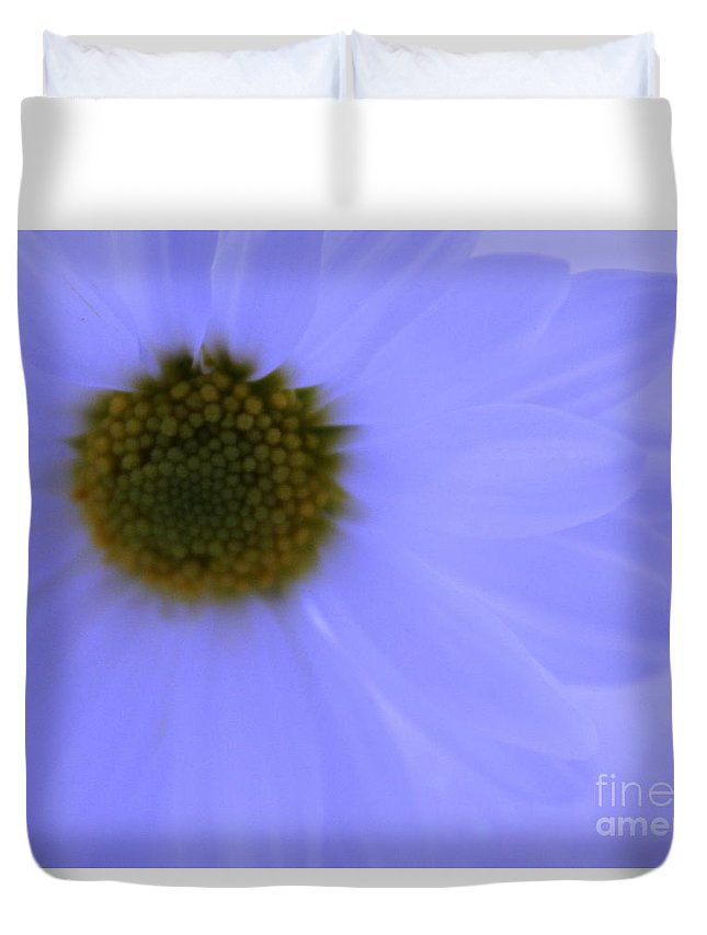 Daisy Duvet Cover featuring the photograph November Blues by Krissy Katsimbras