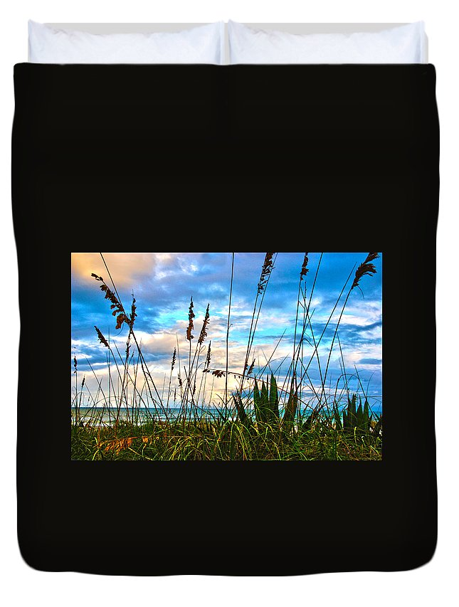 Beach Duvet Cover featuring the photograph November Day At The Beach In Florida by Susanne Van Hulst