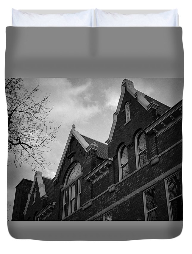 Antique Duvet Cover featuring the photograph Nowhere Kids by Robert Michaud