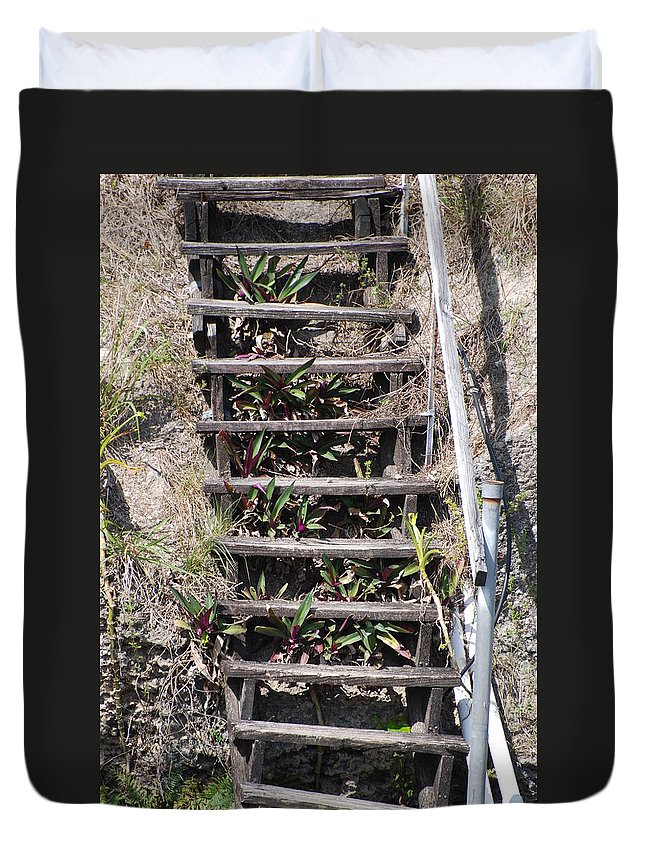 Stairs Duvet Cover featuring the photograph Nowhere Stairs by Rob Hans