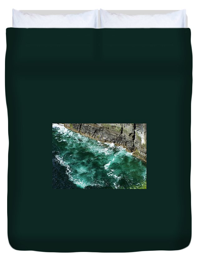 Irish Duvet Cover featuring the photograph Nowhere To Go Cliffs Of Moher Ireland by Teresa Mucha
