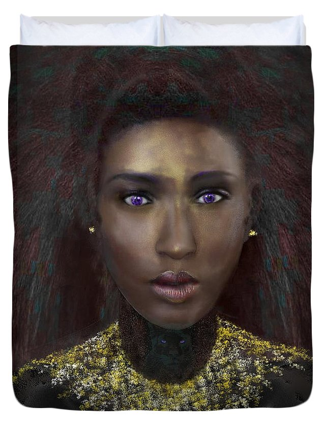 Victor Shelley Duvet Cover featuring the digital art Nubia by Victor Shelley