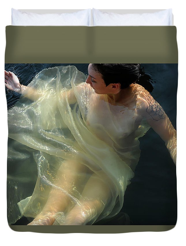 Duvet Cover featuring the photograph Embracing Pleasure by Adele Aron Greenspun