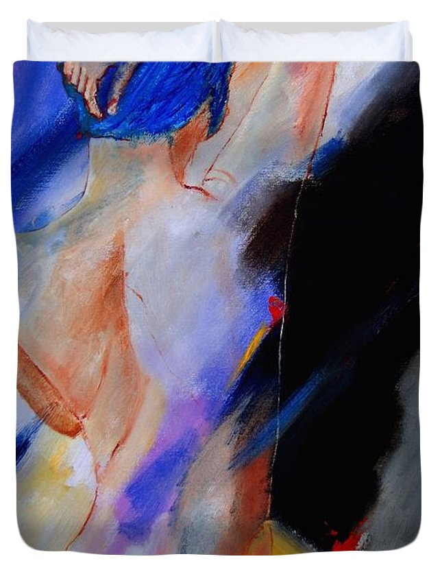 Nude Duvet Cover featuring the painting Nude 579020 by Pol Ledent