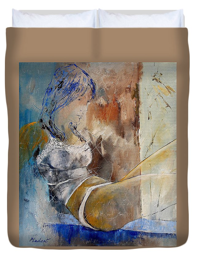 Nude Duvet Cover featuring the painting Nude 67524236 by Pol Ledent