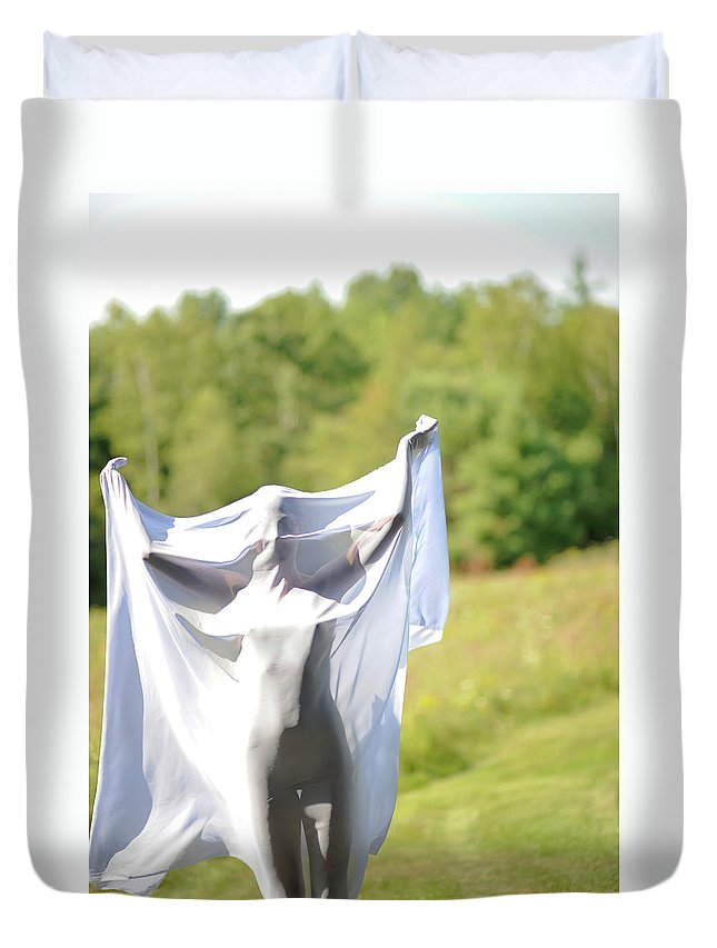 Duvet Cover featuring the photograph Spirit Like by Adele Aron Greenspun
