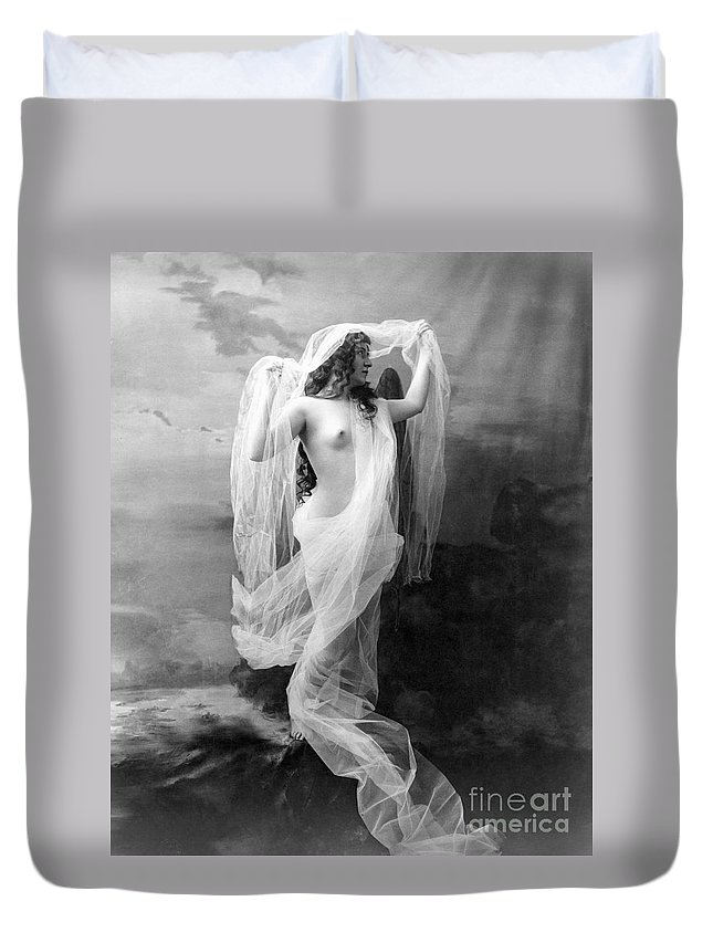 1900 Duvet Cover featuring the painting Nude, C1900 by Granger