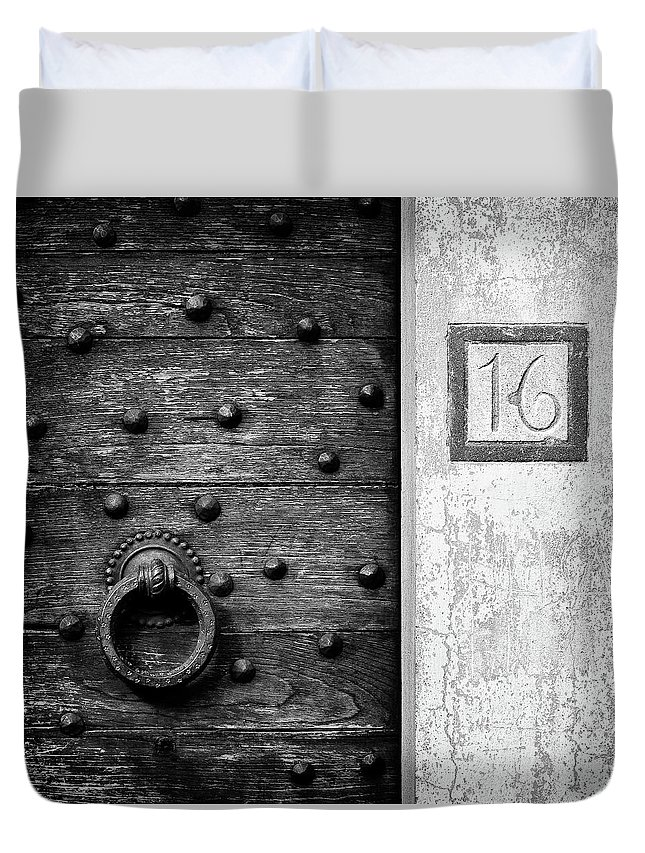 Number 16 Duvet Cover featuring the photograph Number 16 by Dave Bowman