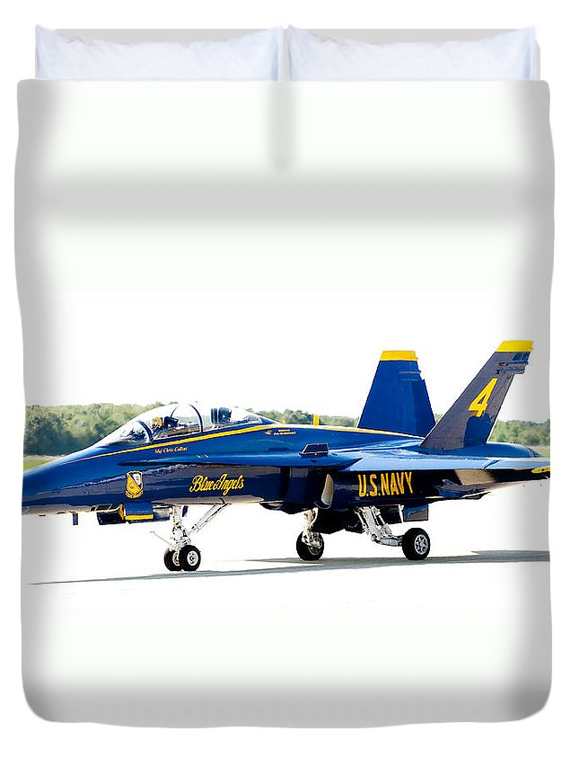 Blue Angel Duvet Cover featuring the photograph Number 4 by Greg Fortier