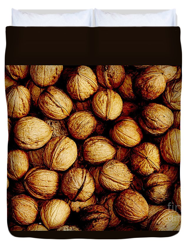 Fruit Duvet Cover featuring the photograph Nuts by Michal Boubin