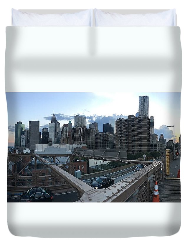Duvet Cover featuring the photograph NYC by Ashley Torres