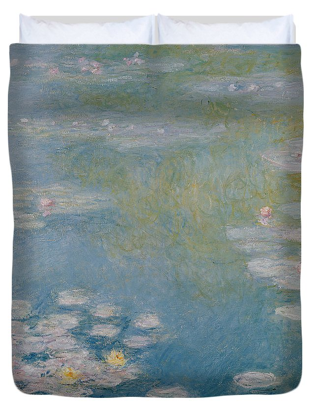 Nympheas Duvet Cover featuring the painting Nympheas at Giverny by Claude Monet