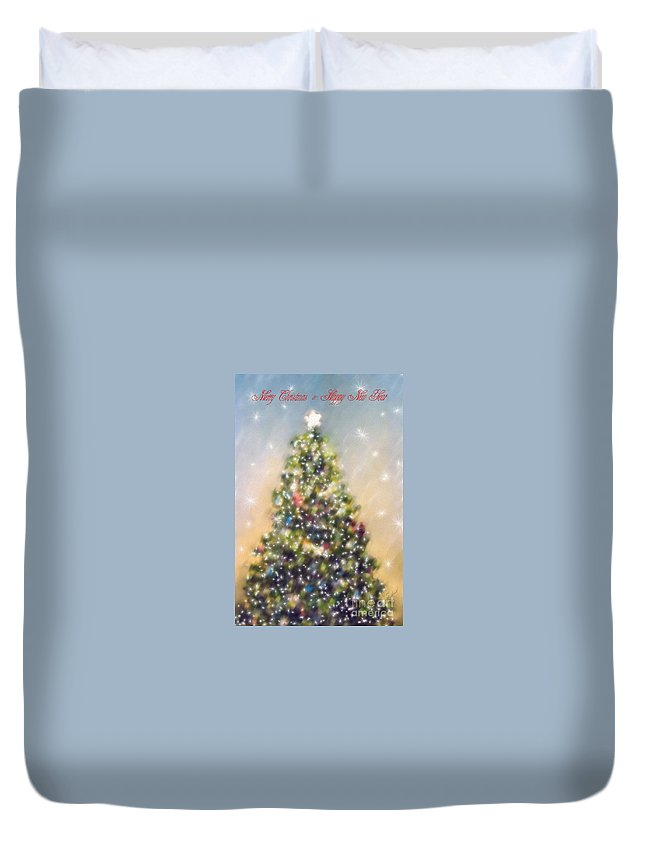 Christmas Duvet Cover featuring the photograph O Christmas Tree by Diane Macdonald
