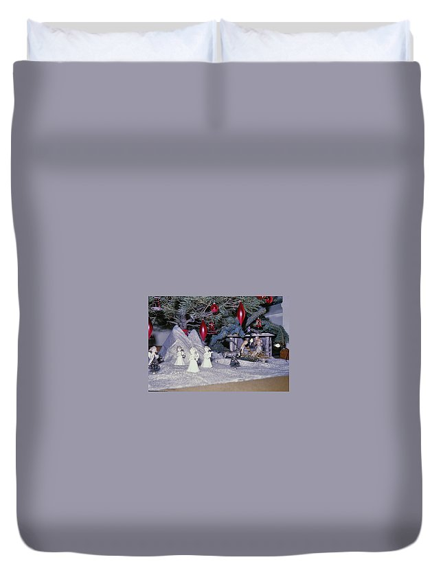 Vintage Duvet Cover featuring the photograph O Holy Night by JAMART Photography