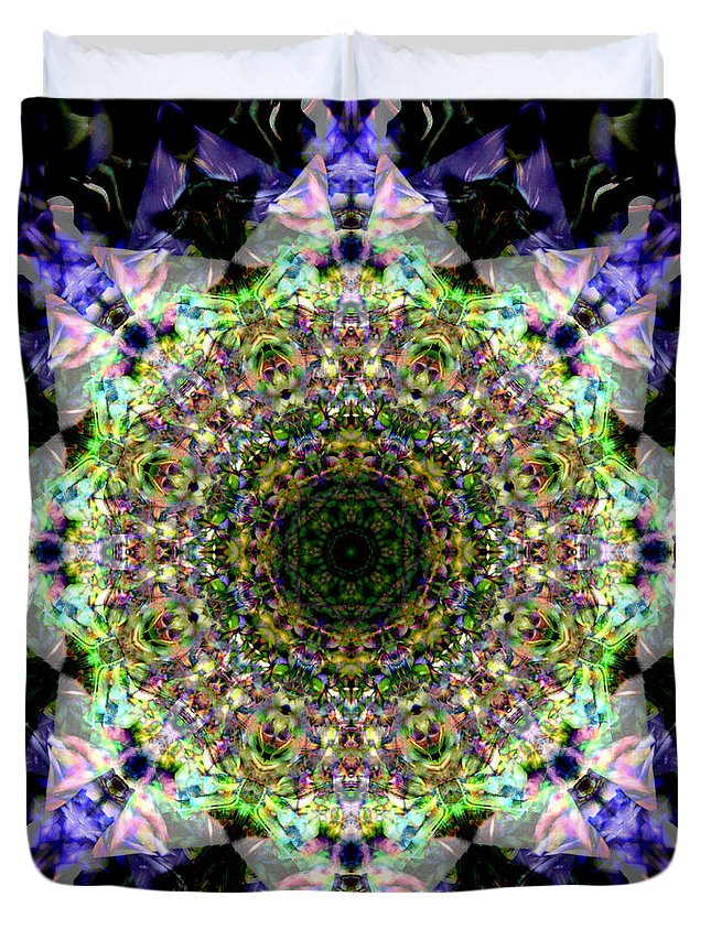 Deep Duvet Cover featuring the digital art Oa-5134 by Standa1one