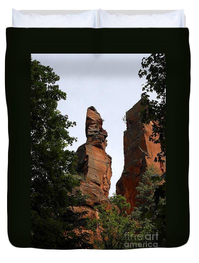 Oak Creek Canyon Arizona Duvet Cover featuring the photograph Oak Creek Canyon by David Lee Thompson