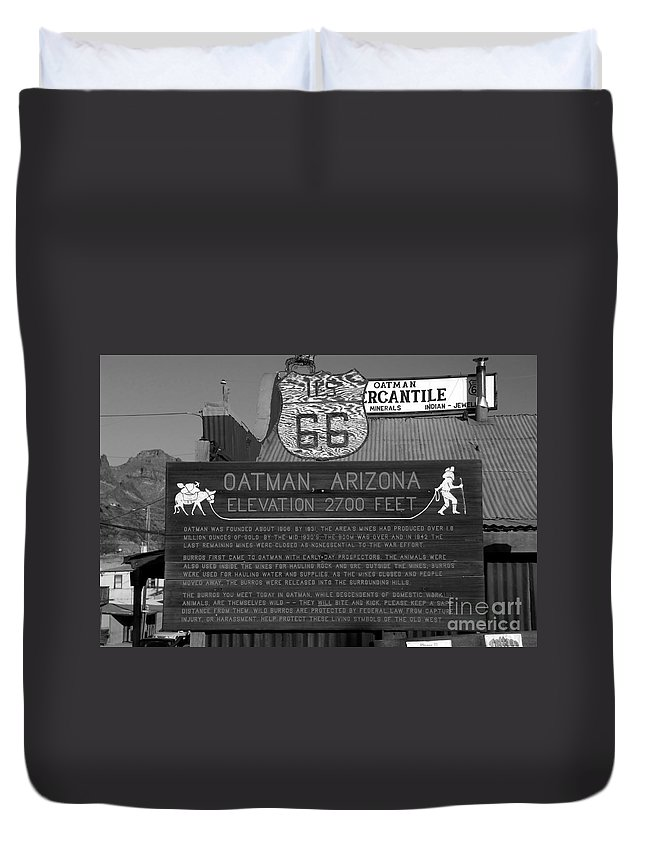 Oatman Arizona Duvet Cover featuring the photograph Oatman Arizona by David Lee Thompson