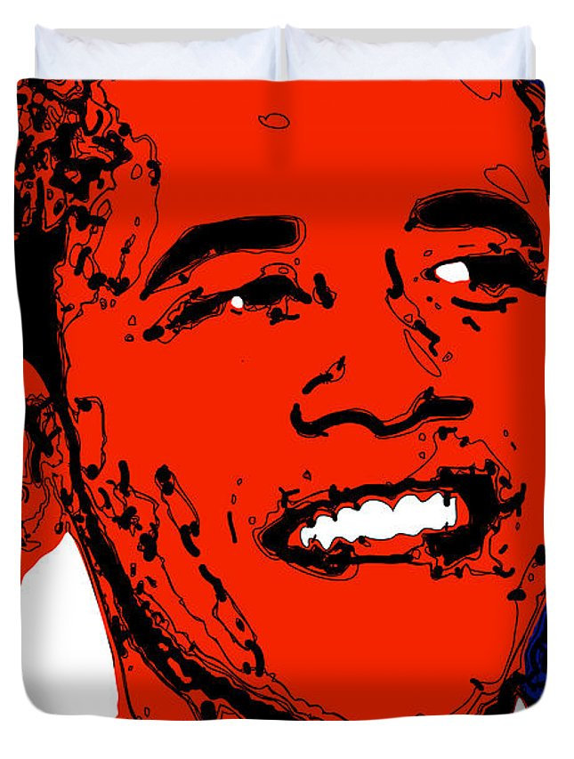 African Duvet Cover featuring the digital art Obama Hope by Rabi Khan